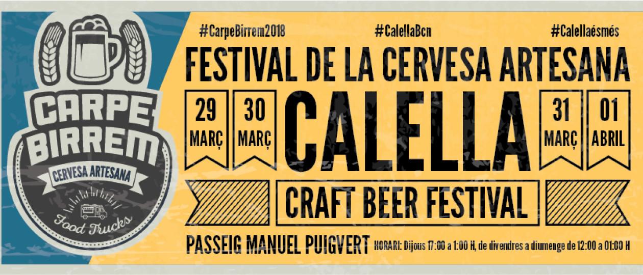 Carpe Birrem Calella // 29, 30, 31 de març i 1 d'abril de 2018